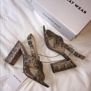 Who What Wear Snakeskin Heels